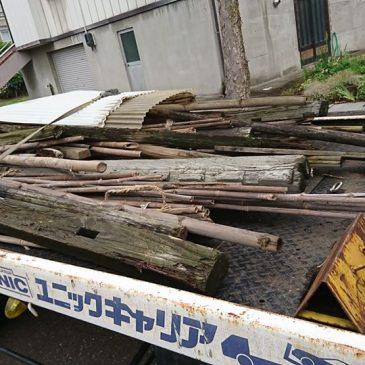 不用になった冬囲いや畑などで使う木材、金属の片付け(妙高市 B様)