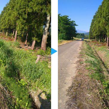 用水路の草刈り(妙高市 M様)