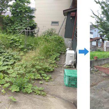 お庭の草刈り(妙高市 N様)