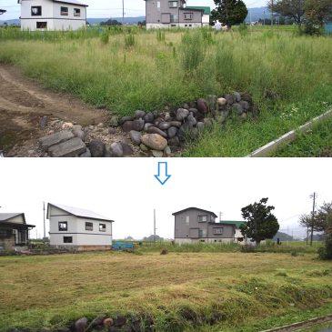 空き地の草刈り3か所(上越市 S様)